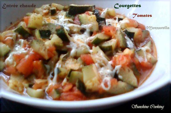 salade chaude aux courgettes,tomates et mozzarella
