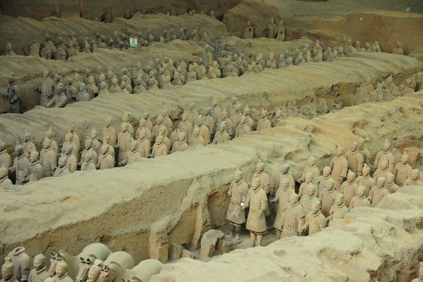 terracotta soldiers in xi'an