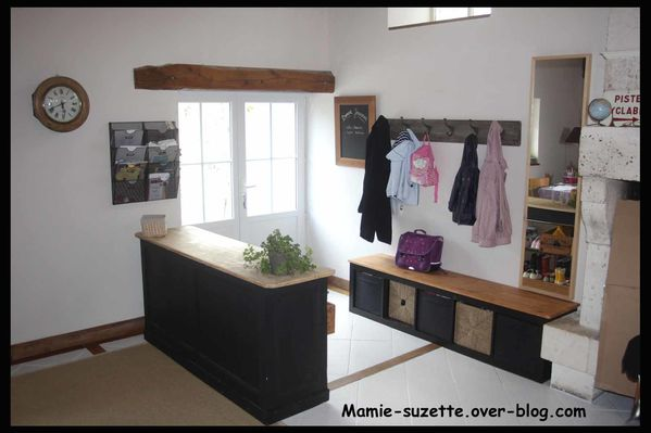 Am nagement de l 39 entr e le blog de mamie - Meuble separation entree salon ...
