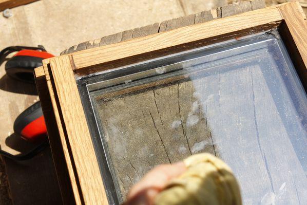 Menuis 8 finitions montage lespailloux for Parclose fenetre bois