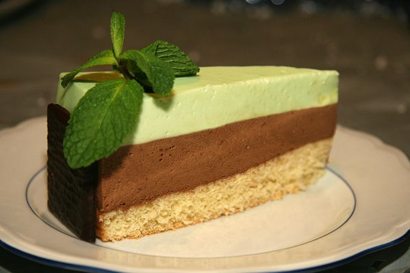 Entremet au chocolat blanc et After-Eight