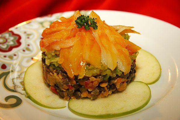 Salade de haddock aux lentilles et pommes vertes la for Entrees froides simples et originales