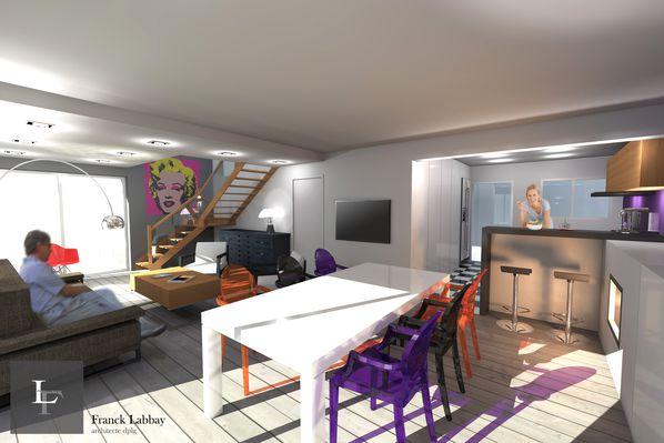 Maison Ca - Réagencement intérieur d\'une maison néo bretonne - Saint ...