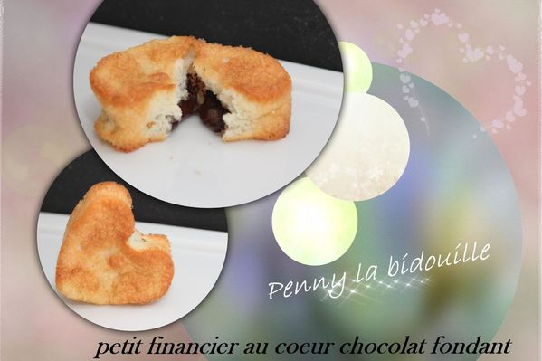 recette de financier au coeur chocolat fondant le blog de penny la bidouille. Black Bedroom Furniture Sets. Home Design Ideas
