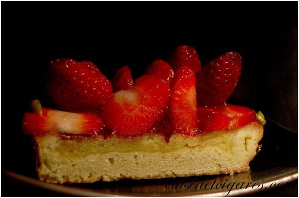 Tarte aux Fraises et Pistaches 6
