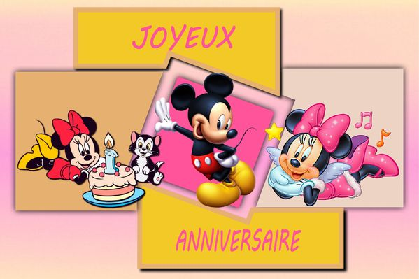 carte anniversaire disney. Black Bedroom Furniture Sets. Home Design Ideas
