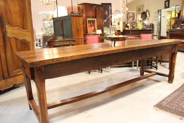 Table de ferme antiquite courtier antiquaire achat vente for Table ancienne de ferme