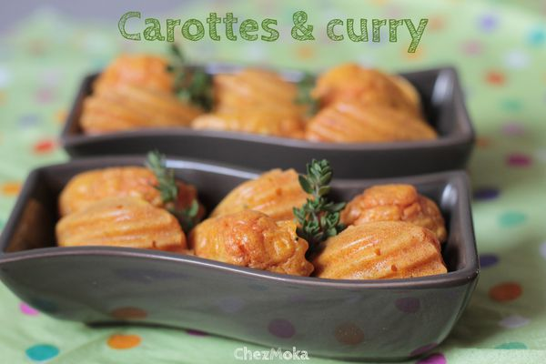 Mini madeleines carotte curry