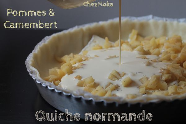 Quiche camembert pomme
