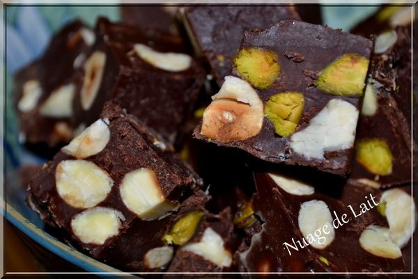fudge pistaches amandes noisettes