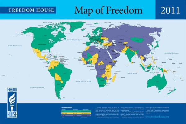 Freedom House 2011 map