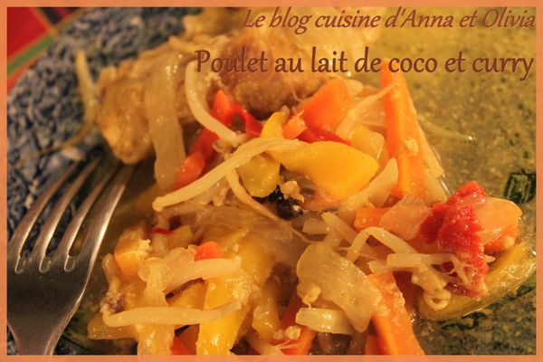 Poulet lait de coco curry