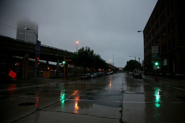 Milwaukee---Downtown---Rain 4956B