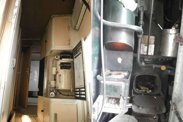 Transsiberien machine à eau et chaudière