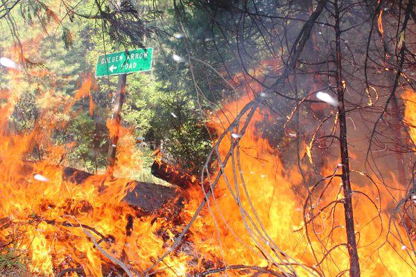Incendie Rim Fire - Yosemite - Violence des flammes