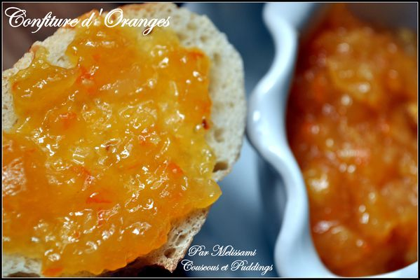 Orange Marmalade - Couscous and pudding