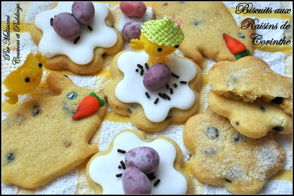 easter biscuits with currants