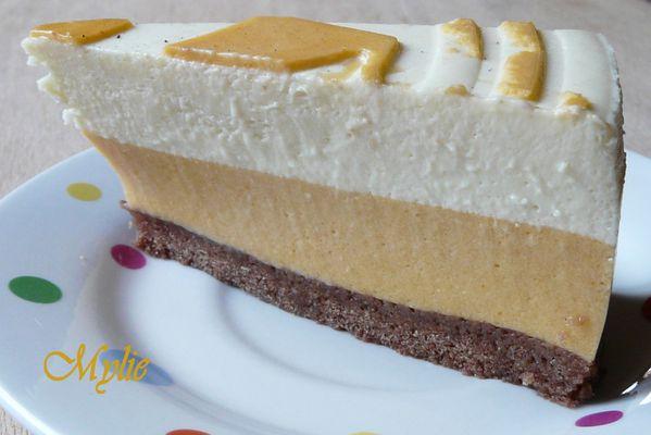 entremet abricot - chocolat blanc 3
