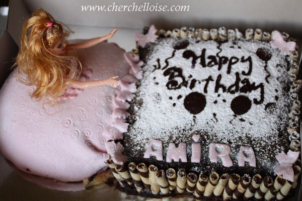 gateau anniverssaire facile barbie