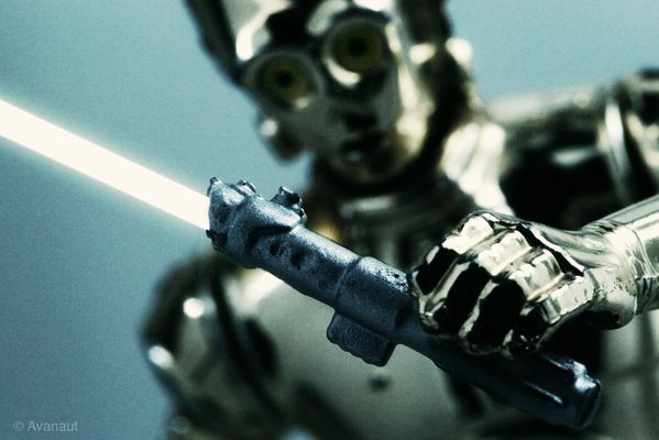REJECTED FRAME C-3PO Fiddling with Luke's Lightsaber