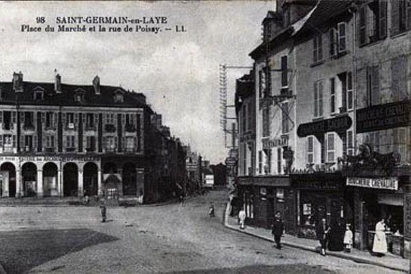 La Place à arcades/ place du marché neuf à Saint-Germain-en-Laye (78100)