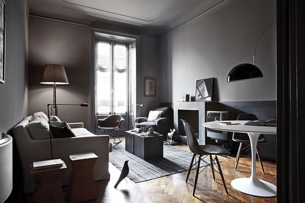 parquet bois blond et murs gris anthracite a part a. Black Bedroom Furniture Sets. Home Design Ideas