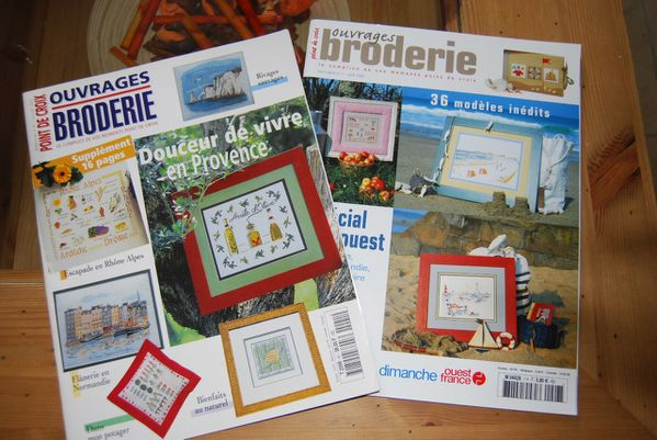 2 ouvrages broderies