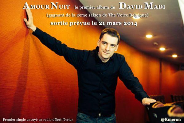 """""""Amour Nuit"""" sera le premier album de David Madi qui sera disponible dès le 21 mars"""