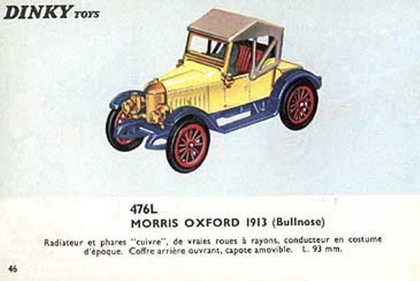 catalogue dinky toys 1966 p46 morris oxford 1913 bullnose