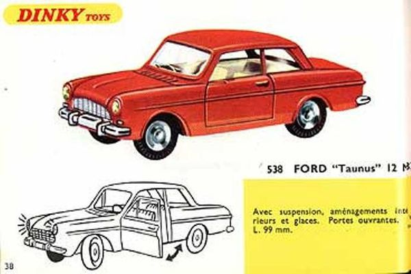 catalogue dinky toys 1967 p38 ford taunus 12m