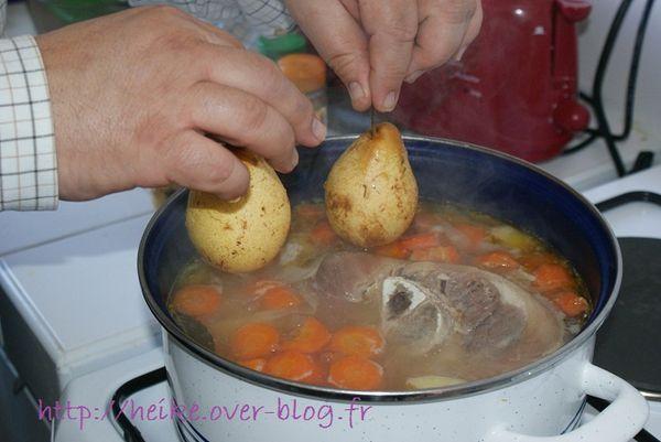 jarret de porc, purée et poire - 4