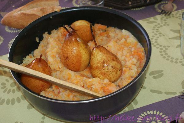 jarret de porc, purée et poire - 5