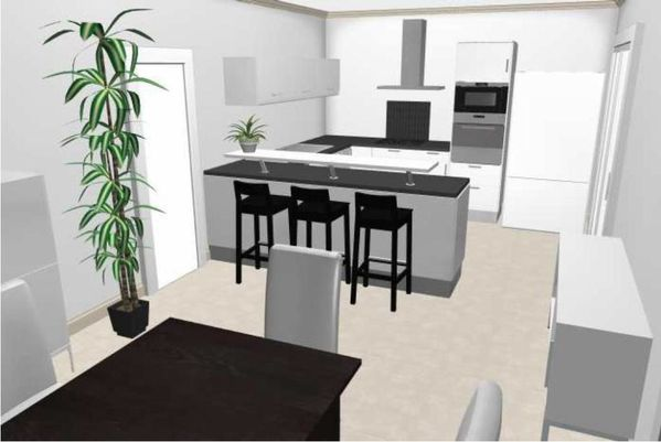 implantation cuisine plan 3d le blog de seb. Black Bedroom Furniture Sets. Home Design Ideas