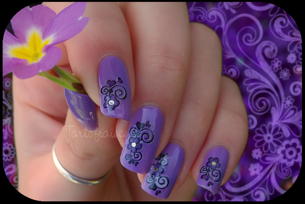 water decal violet 033