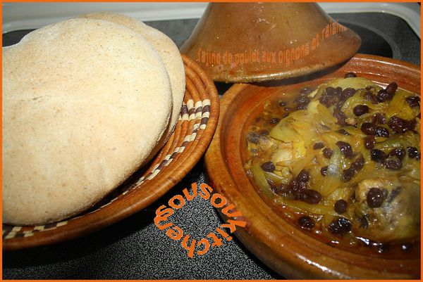 tajine poulet oignons et raisins 018