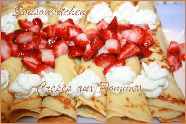 Crepes aux pommes et fraises 116