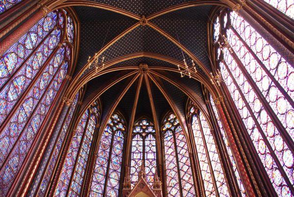 vitraux, plafond ch haute ob