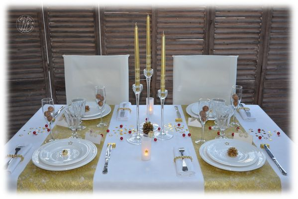 Table d co et gourmandises passionn e de d co et de for Decoration reveillon
