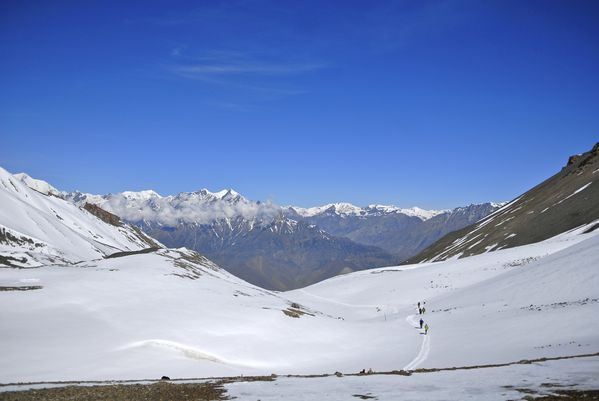 thorong la pass 5416m descente vers muktinath