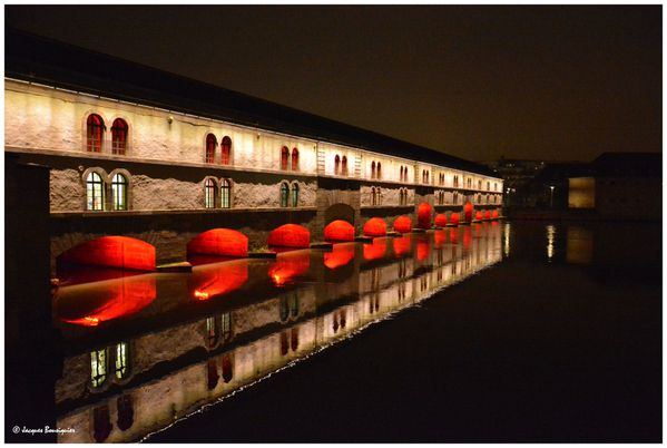 Strasbourg by night La petite France Barrage Vauban 1