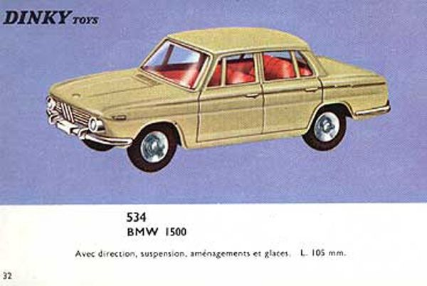 catalogue dinky toys 1966 p32 bmw 1500