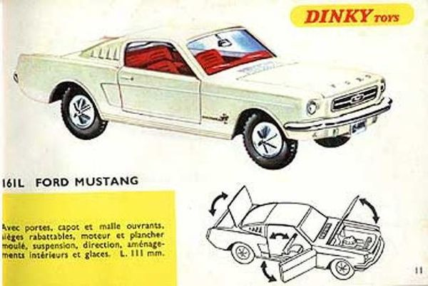 catalogue dinky toys 1967 p11 ford mustang