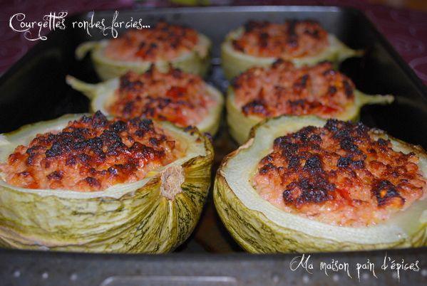 Courgettes rondes farcies ma maison pain d 39 epices - Cuisiner courgettes rondes ...