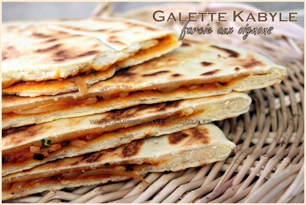 Galette kabyle farcie photo 2