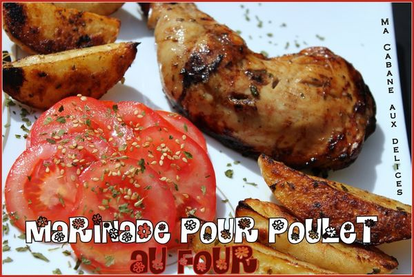 marinade pour poulet et pommes de terre au four la cuisine de djouza. Black Bedroom Furniture Sets. Home Design Ideas