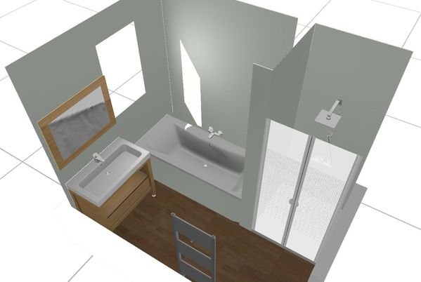 projet de salle de bain objectif home sweet home. Black Bedroom Furniture Sets. Home Design Ideas