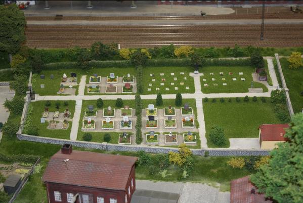 diorama de cimetière
