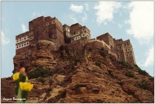 Yemen petit village haut perche