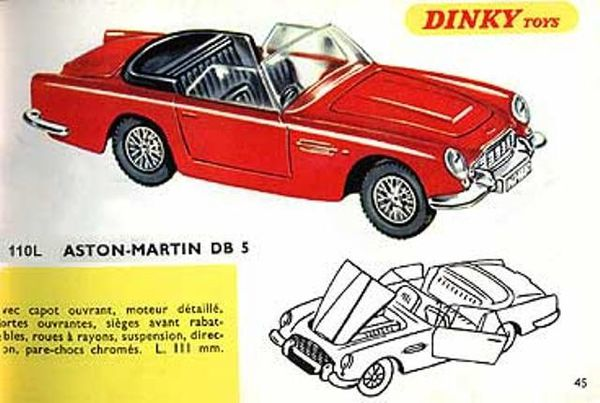 catalogue dinky toys 1967 p45 aston martin db5