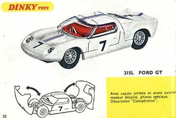catalogue dinky toys 1967 p50 ford gt